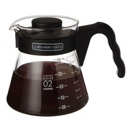 日本製HARIO V-60 (VCS-02B)微波耐熱玻璃壺 700cc 咖啡壺 花茶壺 黑