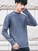 毛衣秋冬季半高領毛衣男韓版寬鬆男士針織打底衫加厚學生情侶外套春季新品