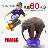 帶繩跳跳球手柄器材健身加厚跳球兒童運動訓練成人蹦蹦球彈跳玩具 【快速出貨】YYJ