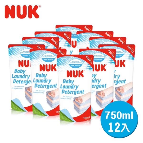 德國NUK-嬰兒洗衣精補充包750ml-12入(箱購)