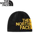 【The North Face 雙面LOGO保暖毛帽《黑/黃》】AKND/保暖帽/毛帽/休閒帽/防寒/登山