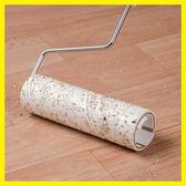 地板粘毛器可撕式紙伸縮桿粘塵灰塵衣服頭發沾毛滾刷除塵滾筒  ifashion部落