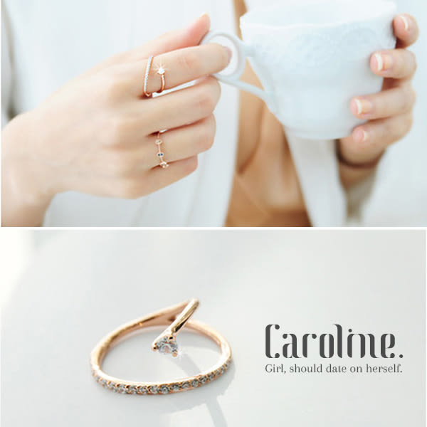 《Caroline》★【一片柔情】韓國流行時尚甜美魅力、迷人風采無限動人時尚戒指68892