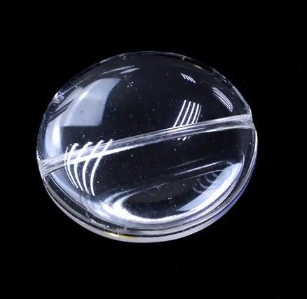[協貿國際]天然白水晶雙卜面圓形散珠DIY手工飾品配件(6入價)