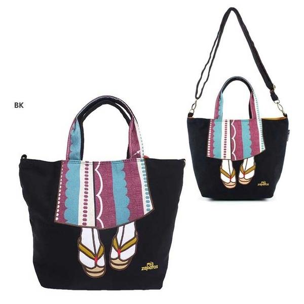 mis zapatos 和風浴衣版 黑色 手提包 肩包 側背包 日本帶回正版商品
