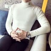 男針織衫 秋冬毛衣保暖針織打底衫高領小怪獸毛衫毛線衣套頭衫打底毛衣【非凡上品】cx6805