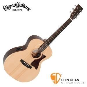 (GRE/雲杉面單板/經典Grand OM桶身/四段EQ拾音器)Sigma吉他 ► Sigma GME 可插電民謠吉他  附贈吉他袋