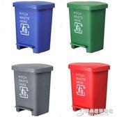 加厚塑料生活腳踏式垃圾桶醫院學校酒店廚房廢物回收箱40升60L80LWD【中秋全館免運】