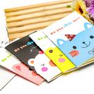 【BlueCat】MINI可愛青春少女動物鐵塔小筆記本 口袋本