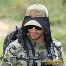 遮陽帽子-抗紫外線UV防曬運動帽釣魚帽+可拆式披風J7521A JUNIPER