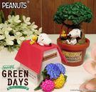 史努比 花草盆栽系列 公仔 擺飾 裝飾 盒玩 Snoopy 日本正版 該該貝比日本精品 ☆