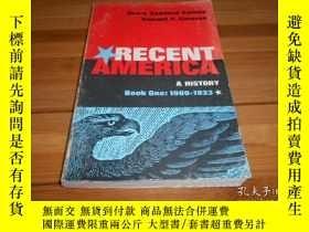 二手書博民逛書店RECENT罕見AMERICA, A HISTORY BOOK