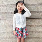 女童薄款外套韓版夏季兒童防曬衣百搭兒童針織開衫空調衫 QQ1199『愛尚生活館』