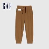 Gap男幼童 基本款鬆緊休閒休閒褲 866610-淺棕色