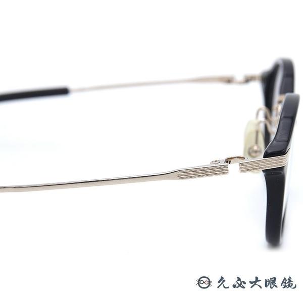999.9 日本神級眼鏡 M38 (黑-金)  鈦 圓框 近視眼鏡 久必大眼鏡