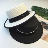 兒童帽子春夏遮陽太陽帽男女童出游漁夫帽大檐草帽親子款春游帽子『摩登大道』