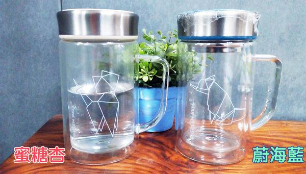 GREEN BELL 綠貝 星幻雙層玻璃泡茶杯(500ml) 辦公杯 耐熱玻璃 梅森瓶◎花町愛漂亮◎GM