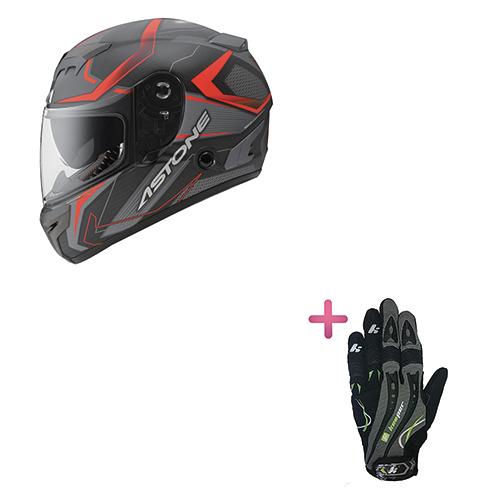 【東門城】ASTONE GTR N55 (平碳纖紅) 全罩式安全帽+KEEPER手套 原價6650
