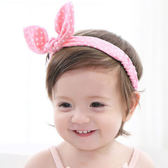 棉感甜美兔耳髮帶 兒童髮飾 兔子造型 髮帶