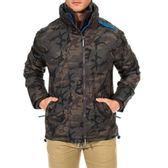 【蟹老闆】SUPERDRY 極度乾燥 迷彩內裡藍色網布 風衣外套