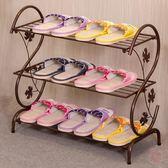 鞋櫃鞋架簡易家用多層簡約現代經濟型鐵藝宿舍拖鞋架子收納小鞋架鞋櫃XW 1件免運