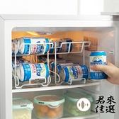廚房冰箱飲料置放收納架雙層廚房鐵藝置物架飲料架【君來佳選】