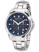 ★MASERATI WATCH★-瑪莎拉蒂手錶-三眼炫銀深藍款-R8873621002-錶現精品公司-原廠正貨-