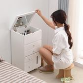 化妝台迷你簡約桌子臥室梳妝櫃多功能實木化妝櫃小戶型飄窗梳妝台  快速出貨