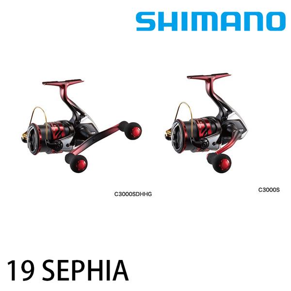 漁拓釣具 SHIMANO 19 SEPHIA SS C3000SDHHG [軟絲捲線器]