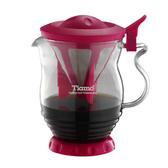 金時代書香咖啡 Tiamo 極細濾網 分享壺 紅色 350ml HG1968