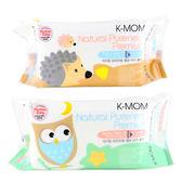 韓國 K-MOM 有機自然幼兒濕紙巾 100張 (隨機出貨) 柔花款 ◆86小舖 ◆