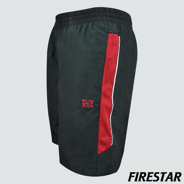 FIRESTAR-男性防潑水運動短褲-黑/紅 C4916-40