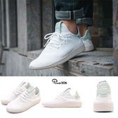 adidas 休閒鞋 PW Tennis HU Pharrell Williams 白 粉綠 聯名款 運動鞋 男鞋 女鞋【PUMP306】 CQ2168