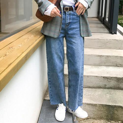 (現貨)水洗中高腰牛仔直筒長褲S-XL-【HA328】Minuet