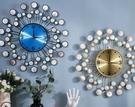 北歐貝殼輕奢鐘錶掛鐘客廳家用時尚藝術創意掛表靜音現代網紅簡約時鐘