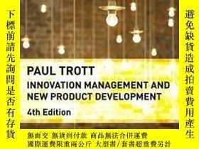 二手書博民逛書店Innovation罕見Management And New Product DevelopmentY2555