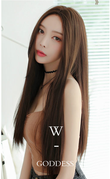*╮Kinkee假髮╭*氣質唯美 大頭皮 中分長直髮【 C8222 】