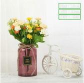 雙12好禮 北歐歐式創意簡約玻璃彩色透明花瓶綠蘿富貴竹插花客廳裝飾擺件