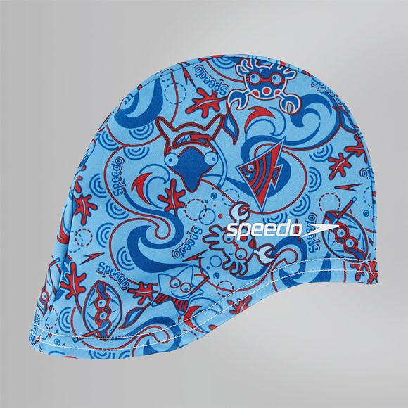 【線上體育】SPEEDO 兒童尼龍泳帽 Sea Squad 藍