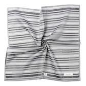 CalvinKlein 格紋紳士純棉帕巾(灰色)989091-248