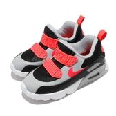 Nike 復古慢跑鞋 Air Max Tiny 90 TD 灰 紅 童鞋 小童鞋 休閒鞋 運動鞋 【ACS】 881924-024