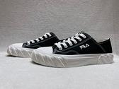 FILA 女款黑色帆布輕便休閒鞋 5c330v001