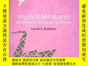 二手書博民逛書店Implicit罕見Measures For Social And Personality Psychology-