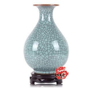 官窯開片釉古典梅瓶