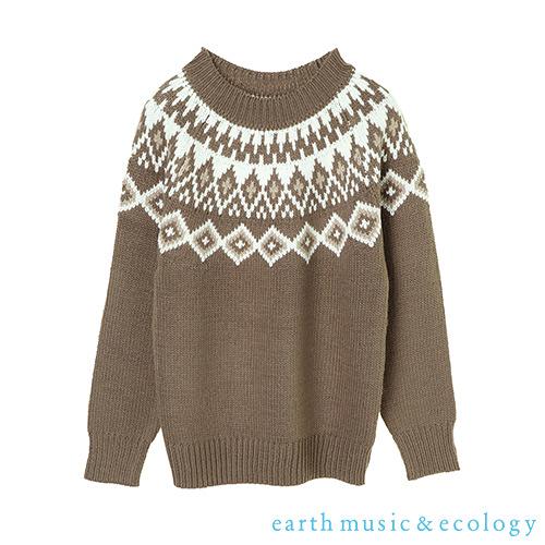 「Hot item」北歐圖騰設計針織上衣 - earth music&ecology