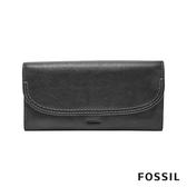 FOSSIL CLEO 簡約真皮長夾-黑色 SWL3089001