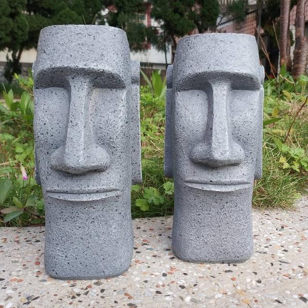 復活島摩艾石像存錢筒 DUMDUM 造型擺飾 零錢筒 MOAI 神秘巨大石像