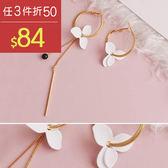 耳環 波西米亞 花朵 鍊條 不對稱 氣質 耳環【DD1706059】 BOBI  09/28
