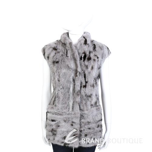 GRANDI furs 灰耦色皮草長版上衣 1440003-06