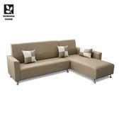 ♥多瓦娜 Clive 克萊夫經典高椅背L型皮沙發 四色198-502 沙發 L型沙發